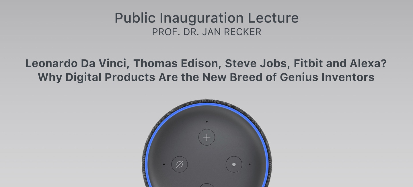 Join Us For Prof. Jan Recker's Inauguration Lecture!